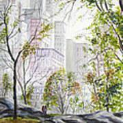 Central Park Stroll Art Print