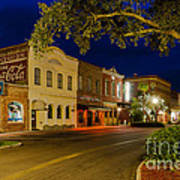 Centre Street Downtown Fernandina Florida Art Print