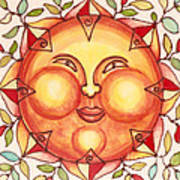 Ceramic Sun 2 Print by Anna Skaradzinska