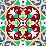 Ceramic Tile Closeup Art Print