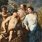 Ceres Bacchus And Venus Art Print