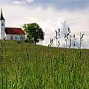 Cerkev Sv Janeza Evangelista Art Print