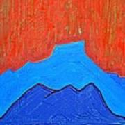 Cerro Pedernal Original Painting Sold Art Print