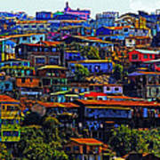 Cerro Valparaiso Art Print