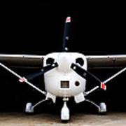 Cessna Dark Hanger Art Print