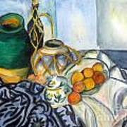 Cezanne Still Life With Apples In Watercolor Art Print