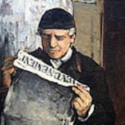 Cezanne's Father Reading Le Evenement Art Print