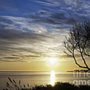 cf 519 A Sunset Over Monterey Bay Art Print
