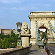 Chain Bridge In Budapest Art Print