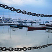 Chains Over The Water Art Print