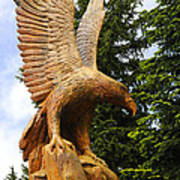 Chainsaw Carved Eagle Art Print