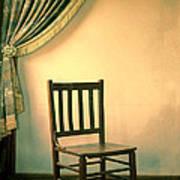 Chair And Curtain Art Print