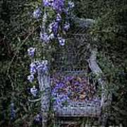 Chair And Flowers Art Print