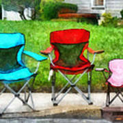 Chair Family Art Print