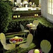 Chairs And Tables In A Garden Art Print