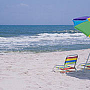Chairs On The Beach, Gulf Of Mexico Art Print