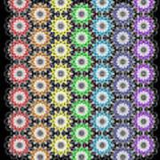 Chakra Healing Grid Art Print