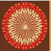 Chakra Mandala With Crystal Stone Healing Energy Plates By Side  Navinjoshi Rights Managed Images Fo Art Print