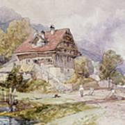 Chalet, Brunnen, Lake Lucerne Art Print