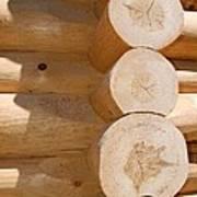 Chalet Logs Art Print