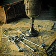 Chalice And Keys Art Print