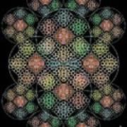 Chalice Cell Rings On Black Lt33 Art Print