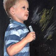 Chalk Talk - Mom Loves U Art Print