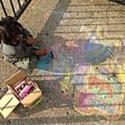 Chalk With Me Art Print