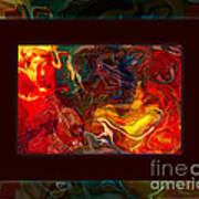 Challenges And Moments In Time Abstract Healing Art Art Print