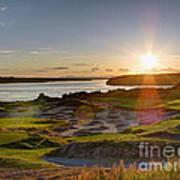 Chambers Bay Sun Flare - 2015 U.s. Open  Art Print