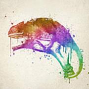 Chameleon Splash Art Print