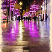 Champs Elysees In Pink Art Print