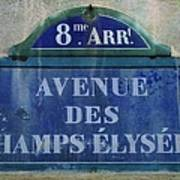Champs-elysees Sign Art Print