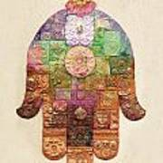 Chamsa Art Print by Michoel Muchnik
