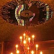Chandelier At The Brown Palace In Denver Art Print