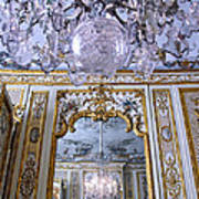 Chandelier Inside Chateau De Chantilly Art Print