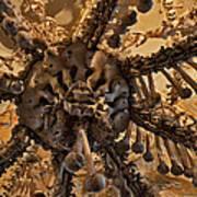 Chandelier Made Of Bones And Skulls. Art Print