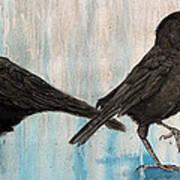 Crow Takes Tea Art Print
