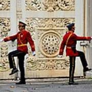 Change Of Guards Ceremony Dolmabahce Istanbul Turkey Art Print