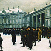 Changing Of The Guard At Amalienborg Palace Art Print