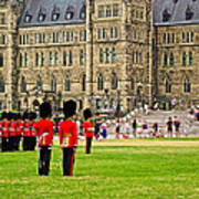 Changing Of The Guard In Front Of Parliament Building In Ottawa- Art Print