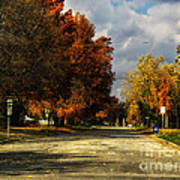 Changing To Fall Colors In Dwight Il Art Print