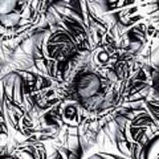 Chaotic Space Art Print by Anastasiya Malakhova