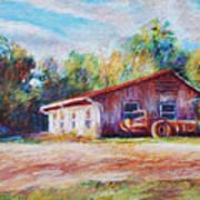 Chapel Hill Creamery Barn Art Print