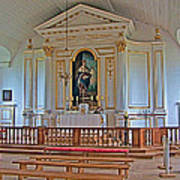 Chapel In King's Bastion In Louisbourg Living History Museum-174 Art Print
