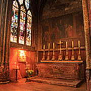 Chapel In St Severin Church Paris Art Print