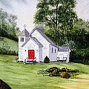 Chapel In The Mounts Art Print