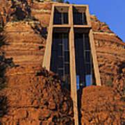Chapel In The Rock Art Print