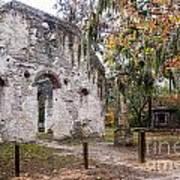 Chapel Of Ease Ruins And Mausoleum St. Helena Island South Car Art Print