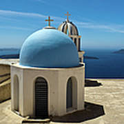 Chapel On Santorini Art Print